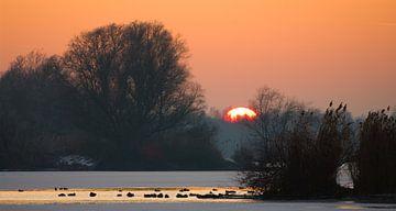 zonsondergang IJsselvallei sur Lex Scholten