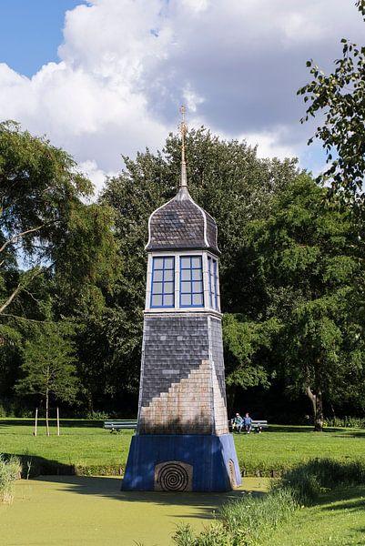 Dakruiter in het Strikledepark, Schiedam van Jan Sluijter