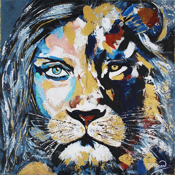 Von Angesicht zu Angesicht - Macht & Weisheit von Kathleen Artist Fine Art