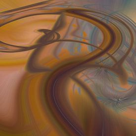 Digital abstract nr. 10 van Leo Luijten
