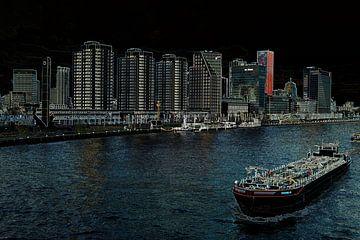 Stadtbild der Boompjes in Rotterdam von Leo Luijten
