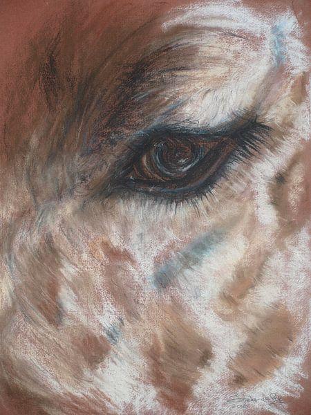 Giraffen oog. van Ineke de Rijk