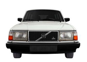 Volvo 245 in white von aRi F. Huber
