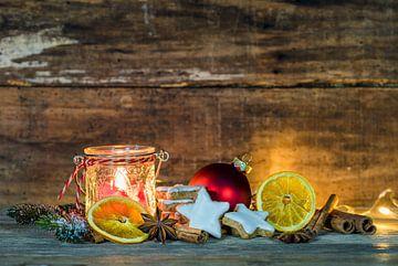 kerstkaart, kerst ornamenten van Alex Winter