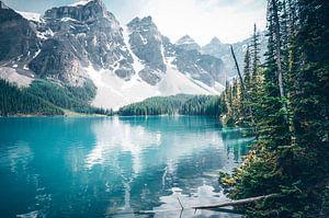 Het wondermooie Moraine Lake van