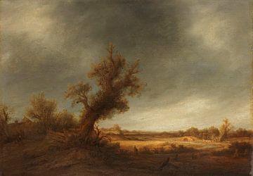 Landschap met oude eik, Adriaen van Ostade