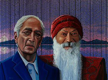 Krishnamurti en Bhagwan Schilderij