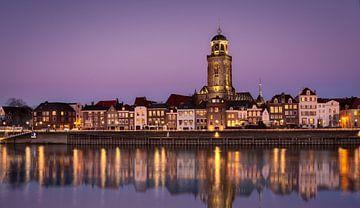 Deventer in de Avond van Jeffrey Van Zandbeek