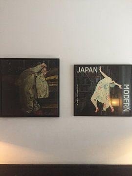 Klantfoto: Meisje in witte kimono, Breitner