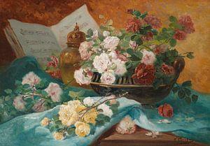 Stilleben mit Rosen in einer Schale, Eugène Henri Cauchois