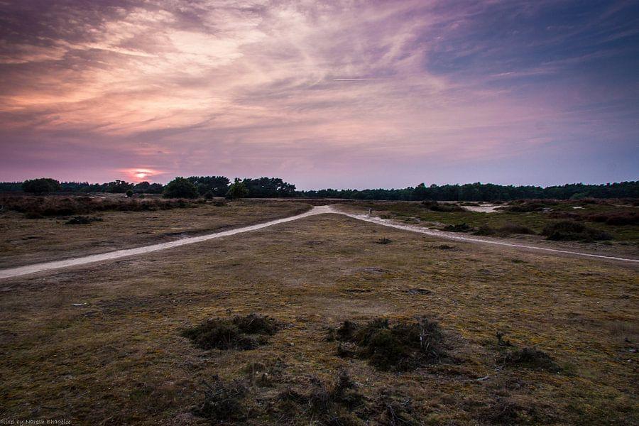 Zonsondergang aan de Tafelbergheide van Naresh Bhageloe