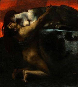 Le baiser du sphinx, Franz Stuck sur