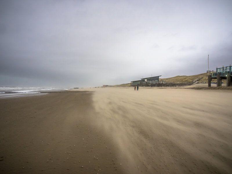 Eine windige Küste bei Callantsoog von Martijn Tilroe