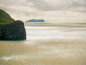 De oceaan bij Heimaey, IJsland