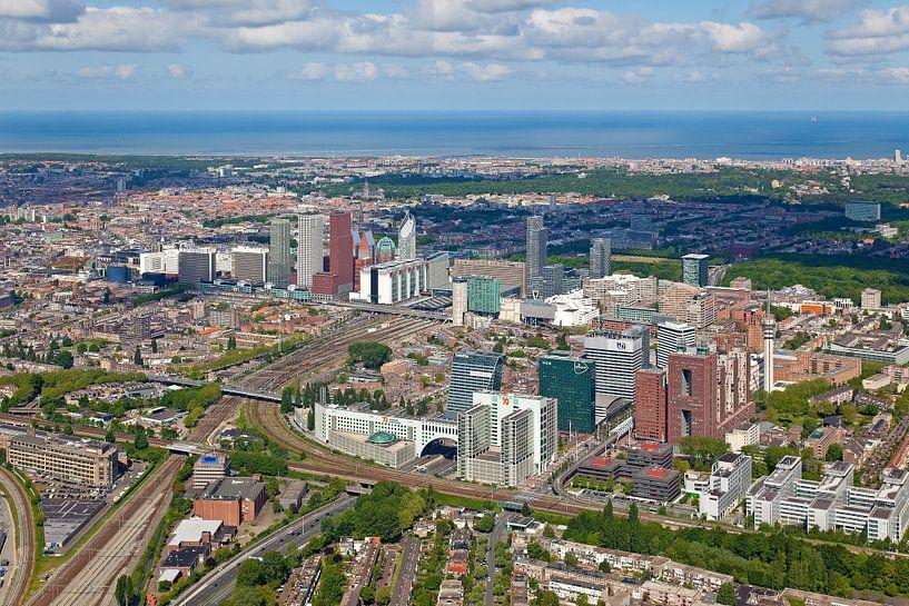 Luchtfoto Den Haag van Anton de Zeeuw