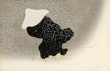 Dwarrelende sneeuw, Kamisaka Sekka van