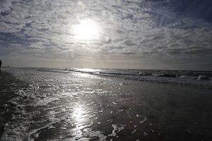 Glinstering op het strand