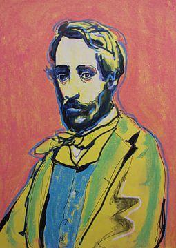 Porträt von Degas von Helia Tayebi Art