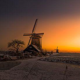 Iconic mill at sunset! van Robert Kok