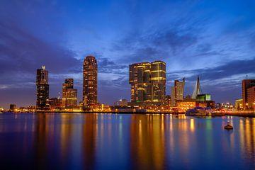 Rijnhaven bij nacht van Johan Vanbockryck
