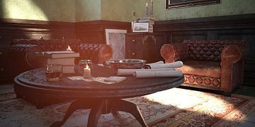 tafel en stoel_HMS van H.m. Soetens