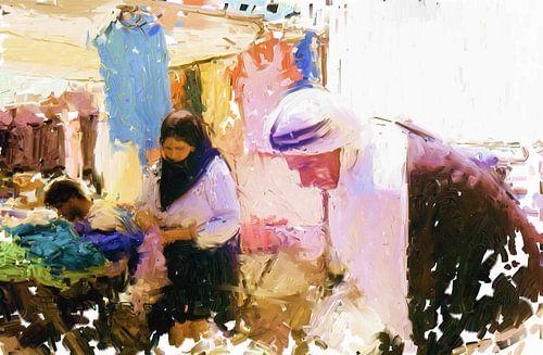 Palestijnse markt van Frans Jonker