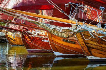 4 alte Zeesboote von Daniela Beyer