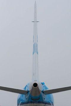 Achteraanzicht van een Embraer 190 van Roque Klop