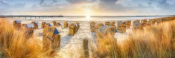Zomer op het strand aan de Oostzee van Voss Fine Art Fotografie