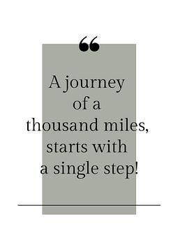 Poster 'Journey' in allen möglichen Farben! von Design by Tessa