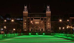 Groene Schaatsbaan van het Rijksmuseum - Amsterdam, Nederland