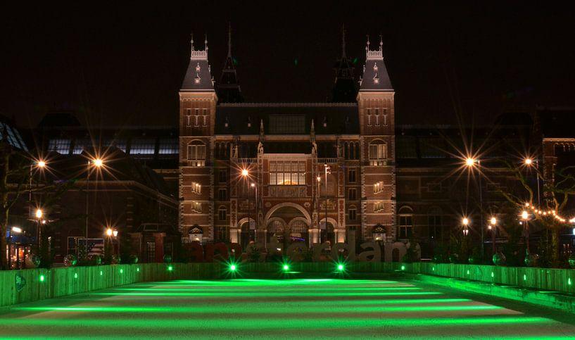 Groene Schaatsbaan van het Rijksmuseum - Amsterdam, Nederland van Be More Outdoor