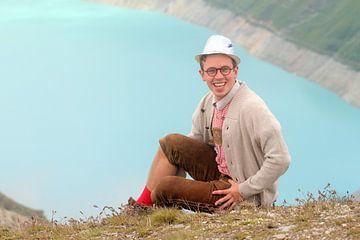 Lederhose in de Zwitserse alpen