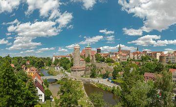 Historische stad aan de Hauptspree, Bautzen, Saksen, Duitsland, , van Rene van der Meer