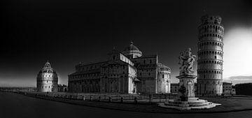 Der Turm von Pisa und die umliegenden Gebäude von Rene Siebring