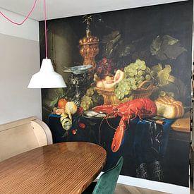 Klantfoto: Stilleven met een gouden bokaal, Pieter de Ring, als behang