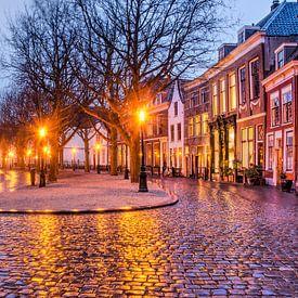 Hooglandse Kerkgracht in Leiden van Frans Blok