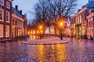 Hooglandse Kerkgracht in Leiden van