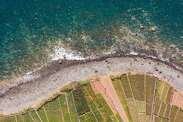 Uitzicht vanaf Cabo Girao op het eiland Madeira van Werner Dieterich