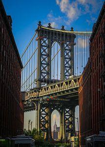 Manhattan Bridge - empire state building New York