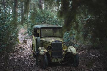 Vergessener Oldtimer im Wald von Sander Schraepen