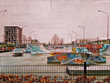 Sketch Skatepark Almere  van Nicky`s Prints