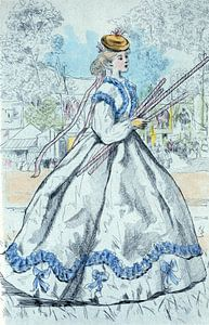 Damenode im Paris des 19. Jahrhunderts (1866), Henri Boutet