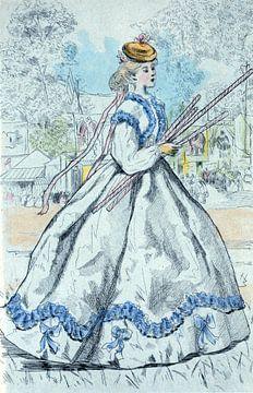Mode in het negentiende-eeuwse Parijs, Henri Boutet, (1851 1919) van