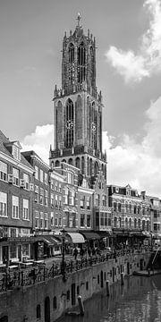 De Domtorenvan Utrecht met op de voorgrond de Vismarkt (Smal formaat) van De Utrechtse Grachten
