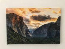 Photo de nos clients: Tunnel View avec El Capitan au lever du soleil, Parc national de Yosemite, Californie, États-Unis sur Markus Lange, sur toile