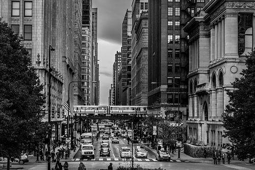 Chicago Downtown - E. Washington Street van