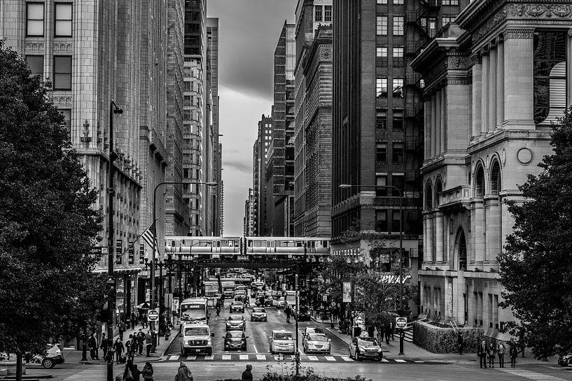 Chicago Downtown - E. Washington Street van Joram Janssen