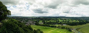 Panorama van zicht op Stirling vanaf het kasteel von Leoniek van der Vliet