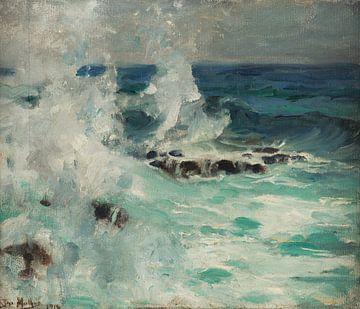 José Malhoa~Seascape